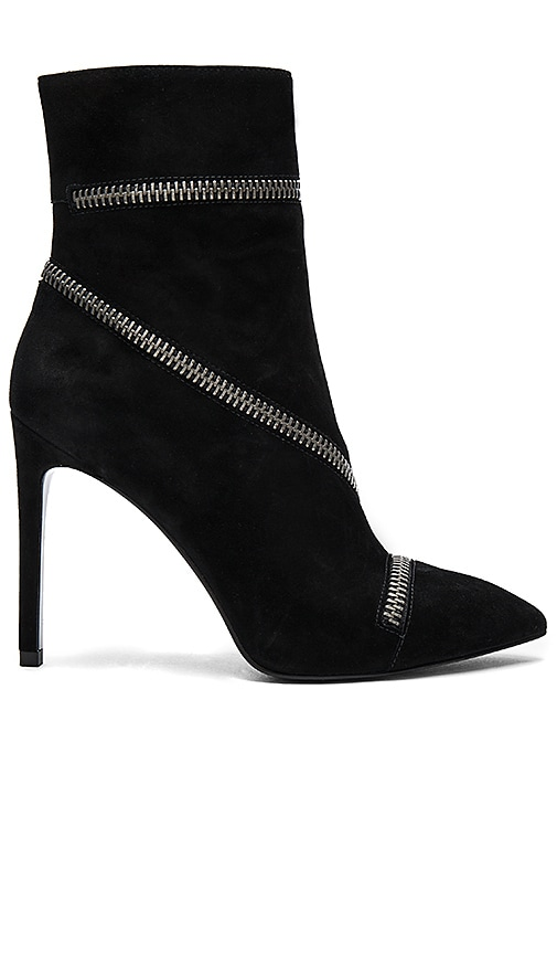 Pierre Balmain Zipper Bootie in Black