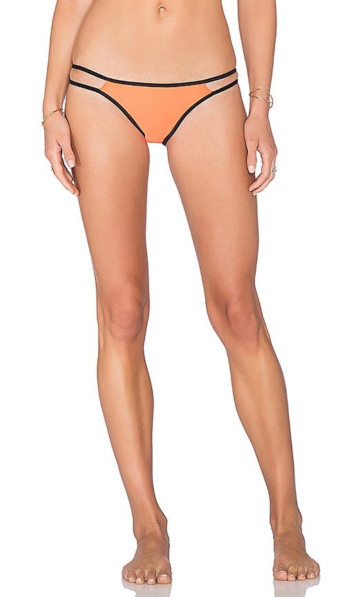PILYQ Strappy Troy Teeny Bikini Bottom in Orange