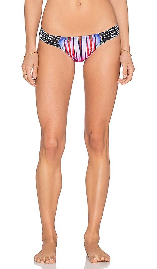 PILYQ Fanned Brazillian Bikini Bottom in Black