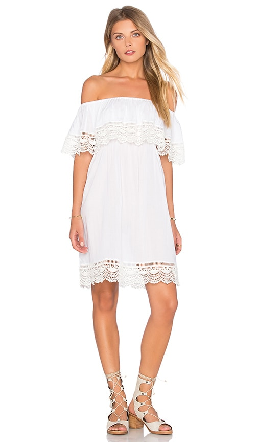 PILYQ Penelope Off The Shoulder Dress in White