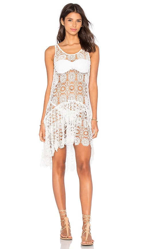 PILYQ Island Lace Dress in White