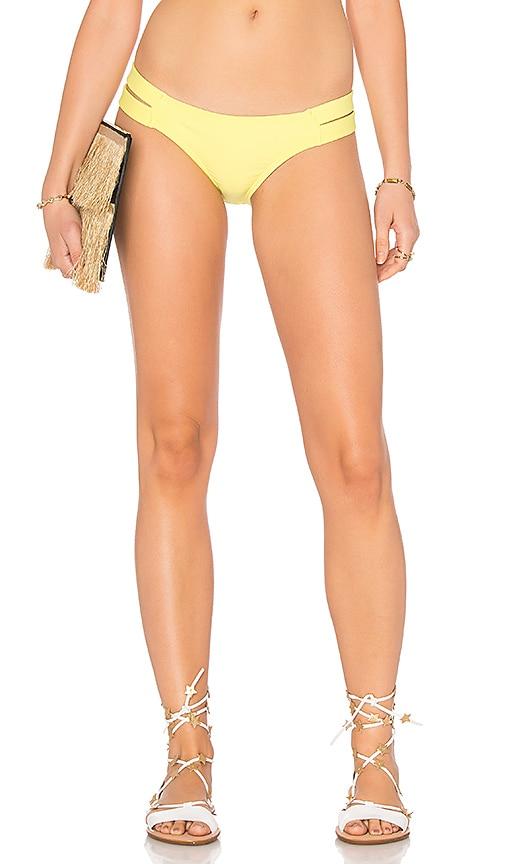 PILYQ Strappy Madrid Bikini Bottom in Yellow