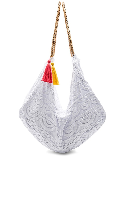 PILYQ Allison Lace Bag in White