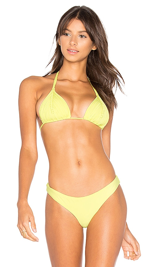PILYQ Basic Ruched Teeny Bottom in Yellow