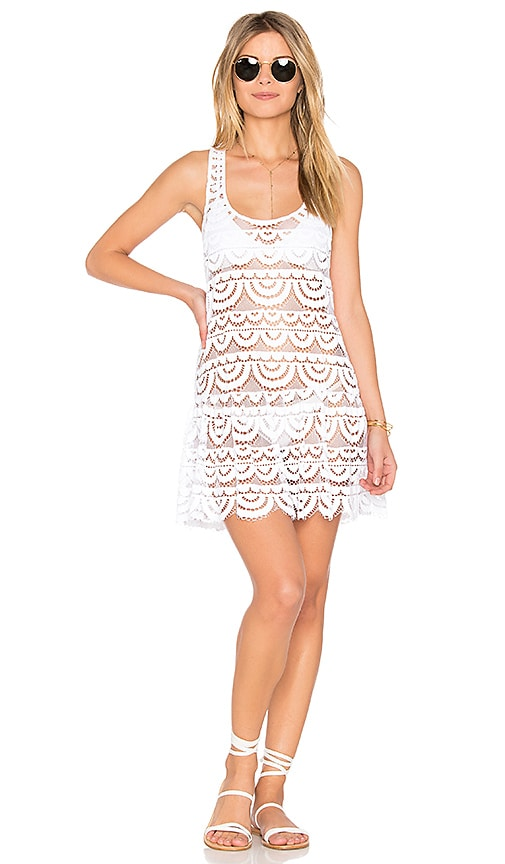PILYQ Island Lace Dress in White