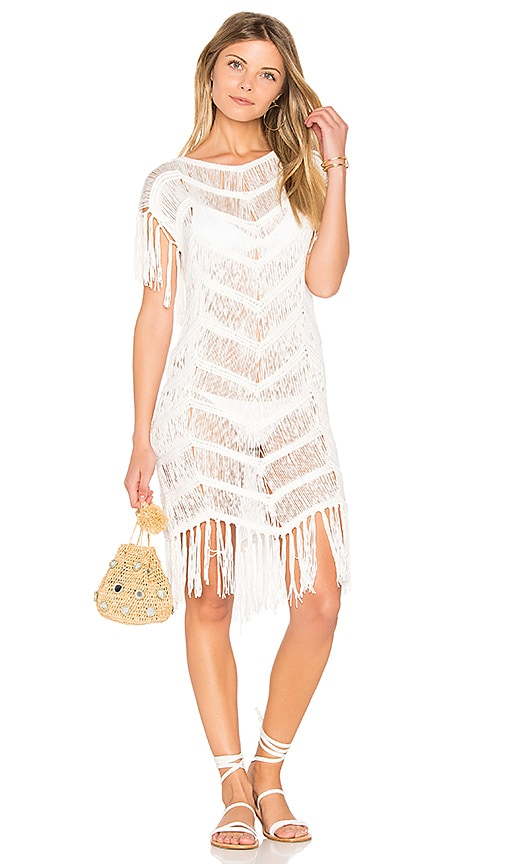PILYQ Fringe Tunic in White