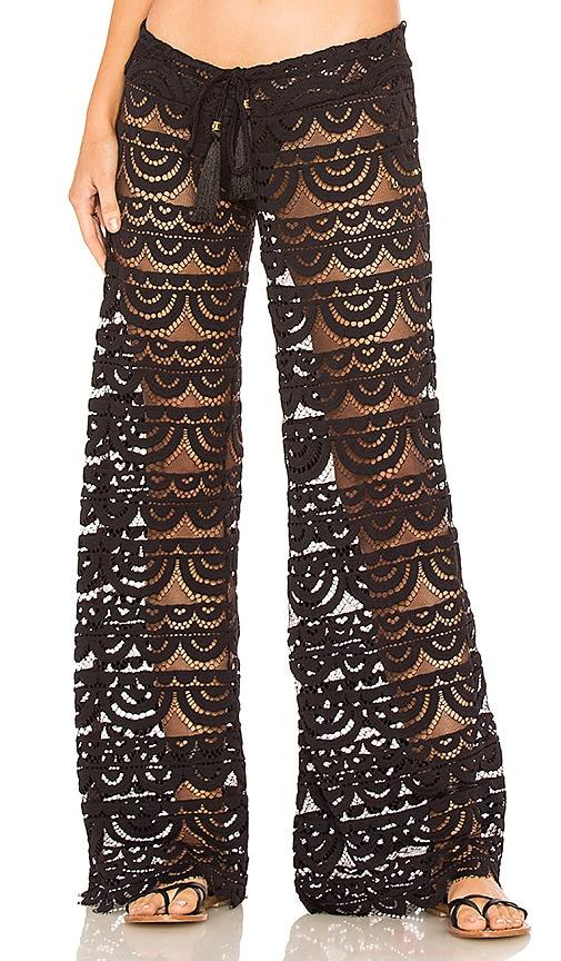 PILYQ Malibu Lace Pant in Black
