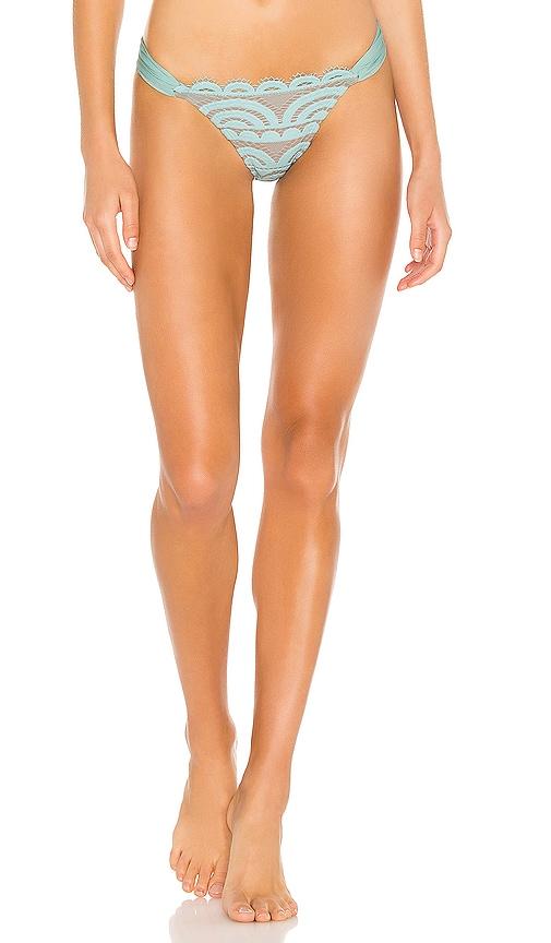 PQ Lace Fanned Teeny Bikini Bottom in Seafoam | REVOLVE