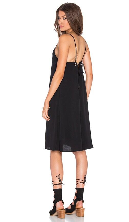 Pink Stitch Charter Dress in Black