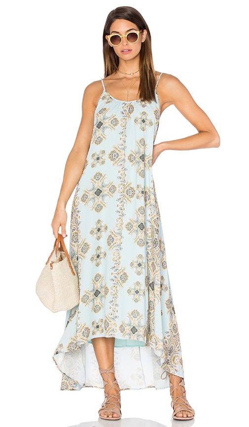 Pink Stitch Resort Maxi Dress in Turquoise