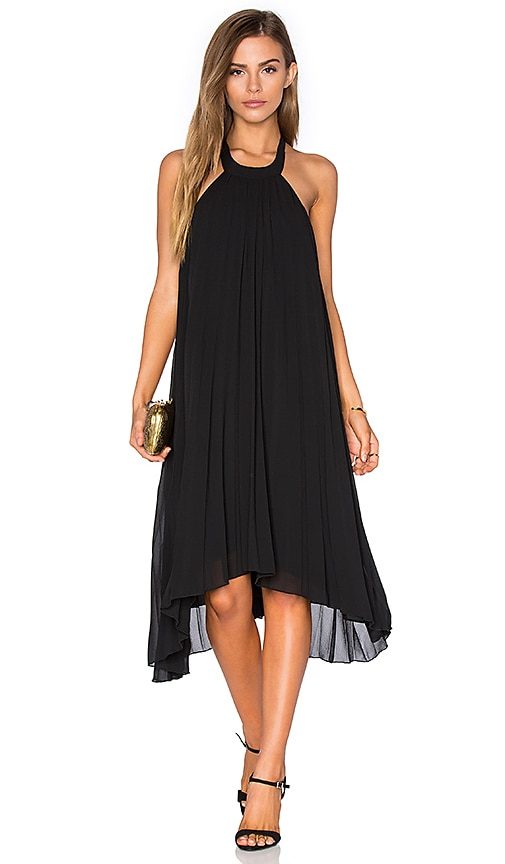 Pink Stitch Allegra Dress in Black