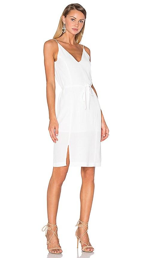 Pink Stitch Paloma Dress in White
