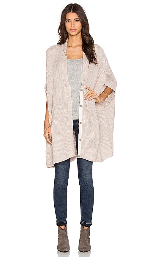 Pink Stitch Isabella Cardigan in Tan