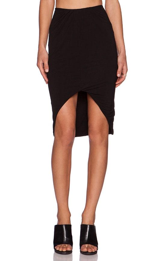 Pink Stitch Adella Skirt in Black