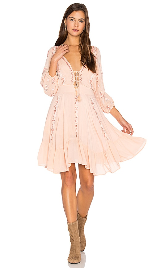 PIPER Indo Dress in Peach