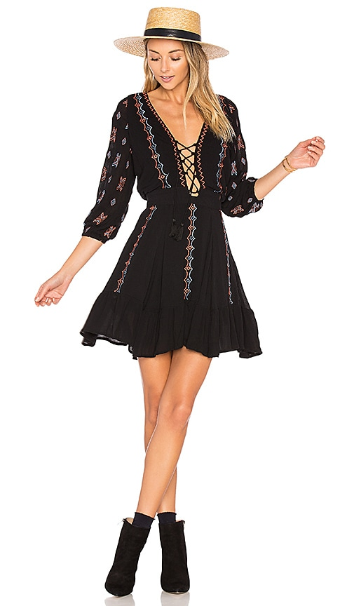 PIPER Indo Dress in Black