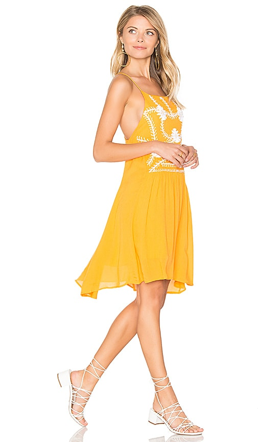 PIPER Sumatra Mini Dress in Yellow