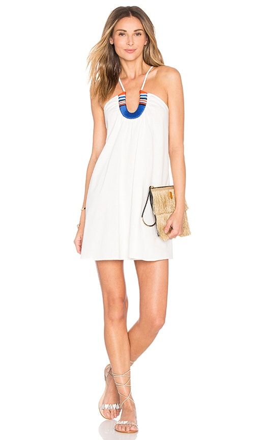PIPER Saltillo Horse Shoe Dress in White