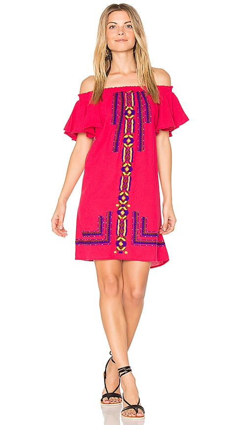 PIPER Sublime Ruffle Dress in Fuchsia