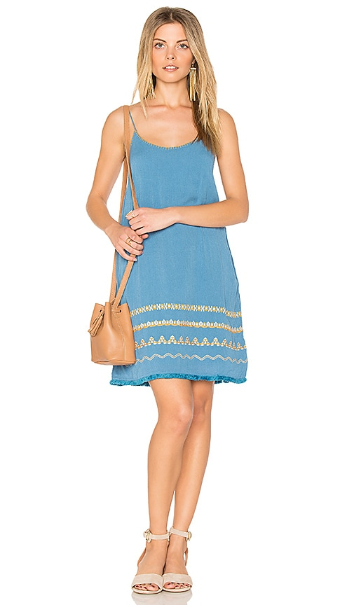 PIPER Celine Slip Dress in Turquoise