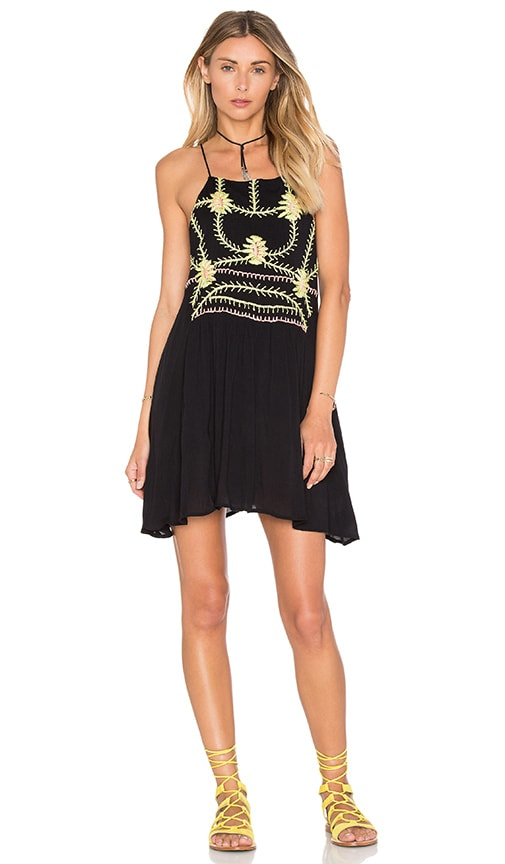 PIPER Sumatra Flare Mini Dress in Black