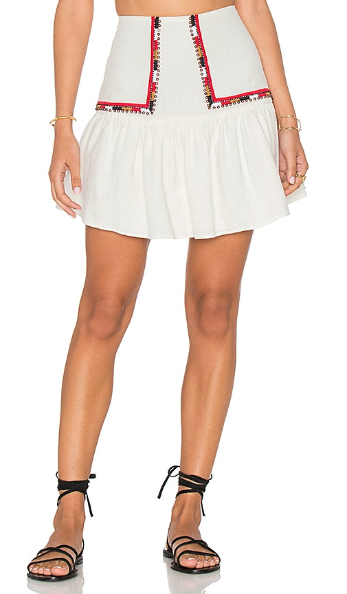 PIPER Devi Mini Skirt in White