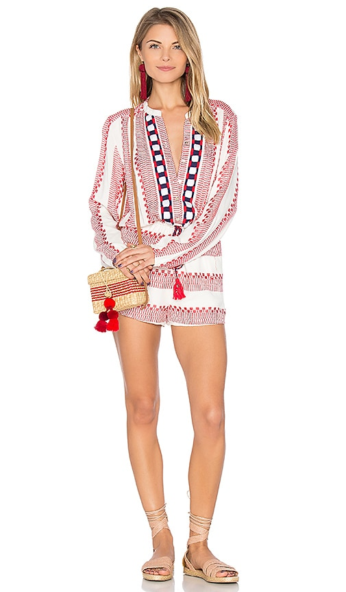 PIPER Ramones Romper in Red