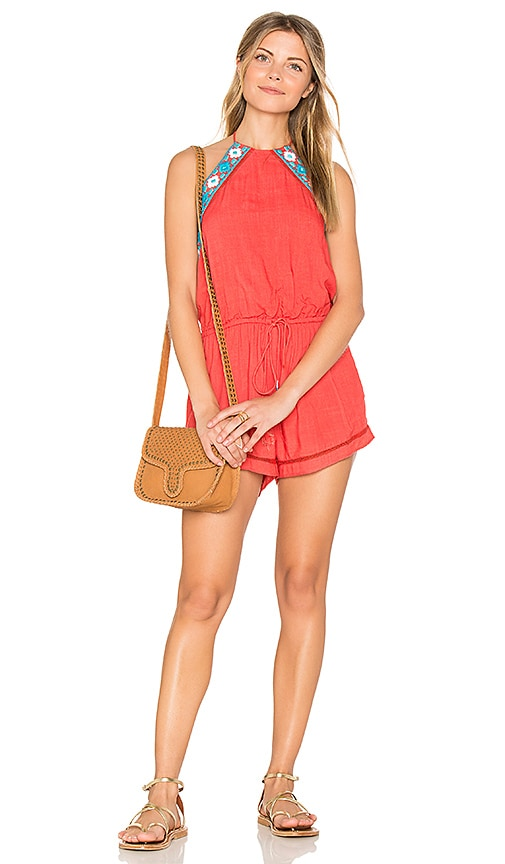 PIPER Brisban Romper in Orange