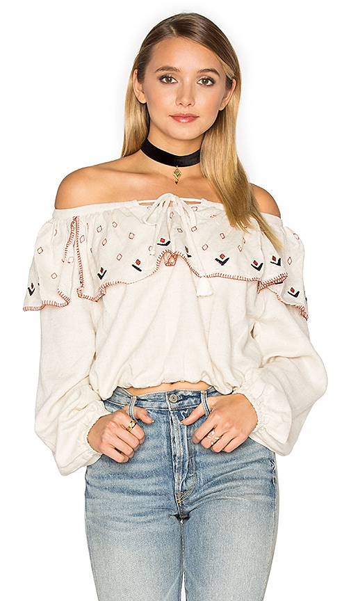 PIPER Tibet Off Shoulder Top in Ivory