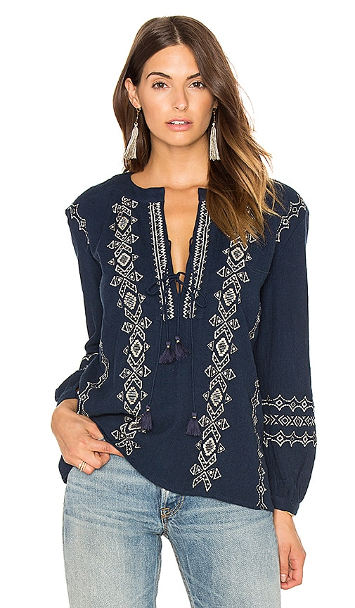 PIPER Sanor Blouse in Navy