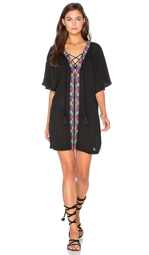 PIPER Xico Beaded Cover Up in Black