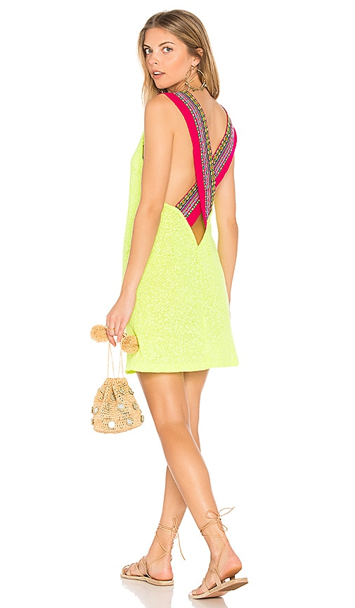 Pitusa Cross Back Dress in Yellow