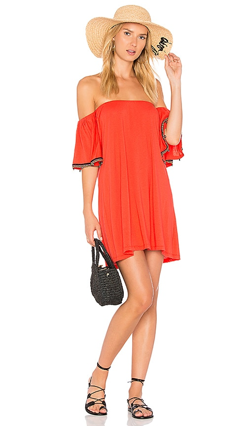 Pitusa Salsa Mini Dress in Orange