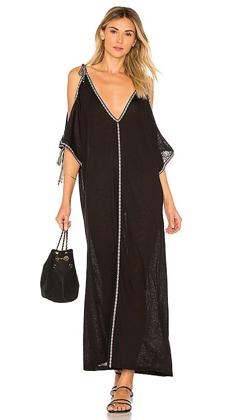 Pitusa Inca Ottoman Dress in Black