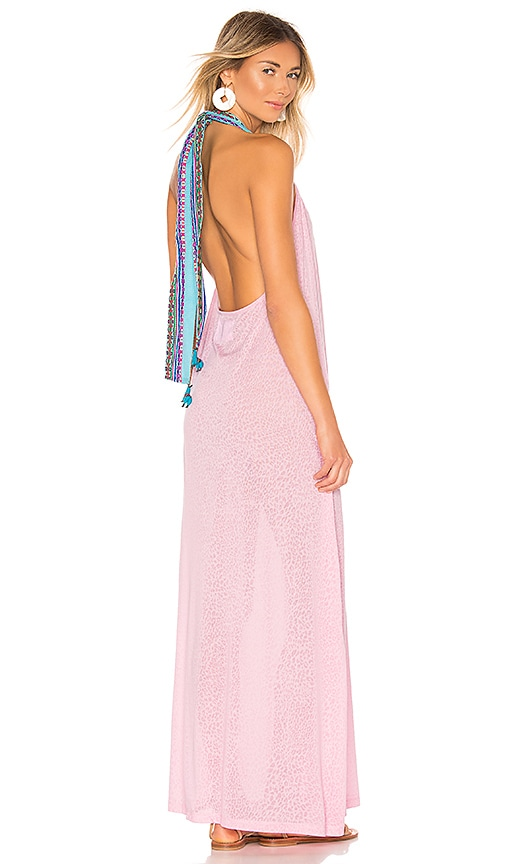 7e7e5f803f0 Pitusa Llama Halter Dress in Light Pink