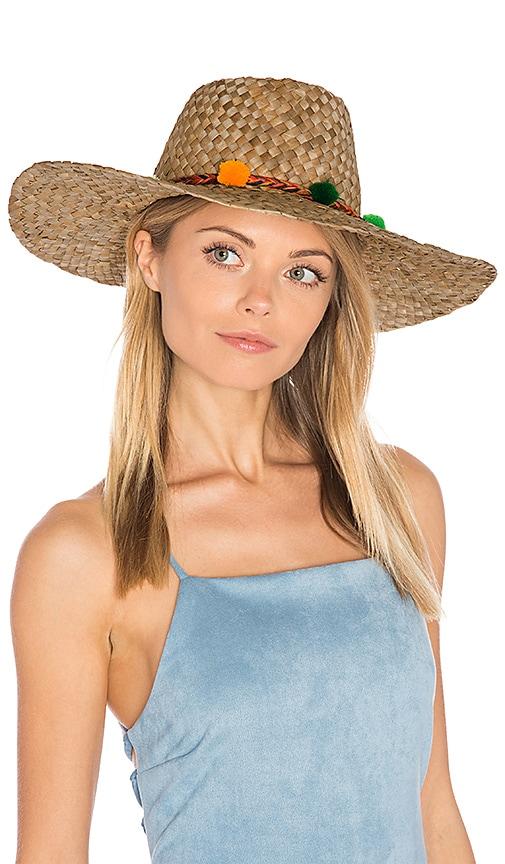 Pom Pom Farmers Wide Rim Hat