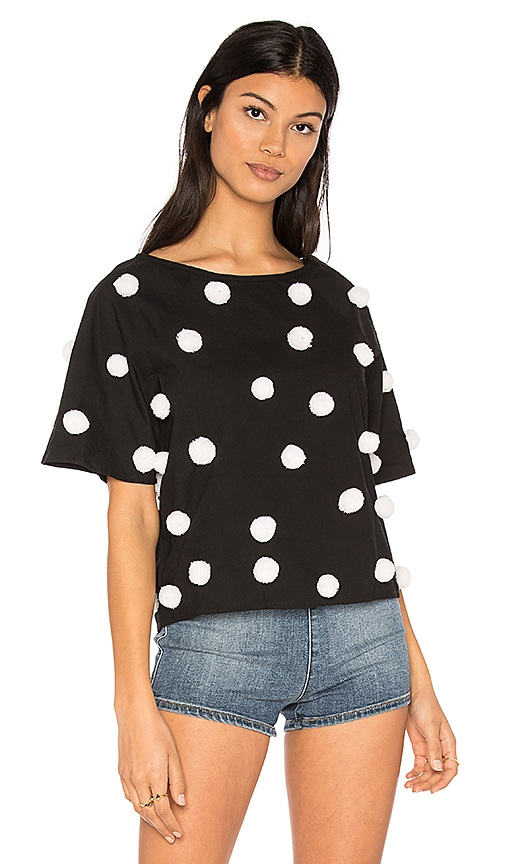 Pitusa Pom Pom Shirt in Black