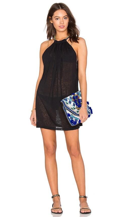 Pitusa Aegean Mini Dress in Black