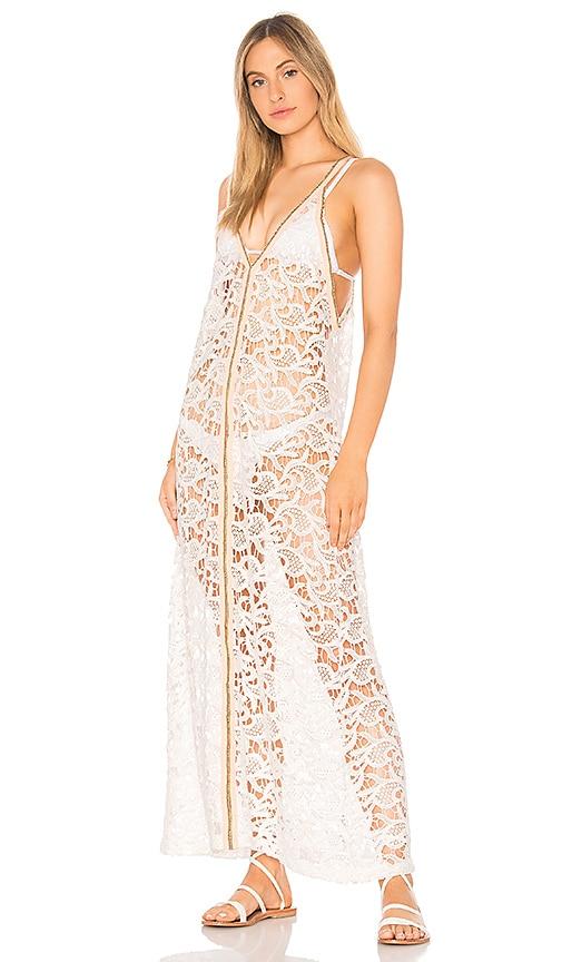 Pitusa Crochet Sundress in White