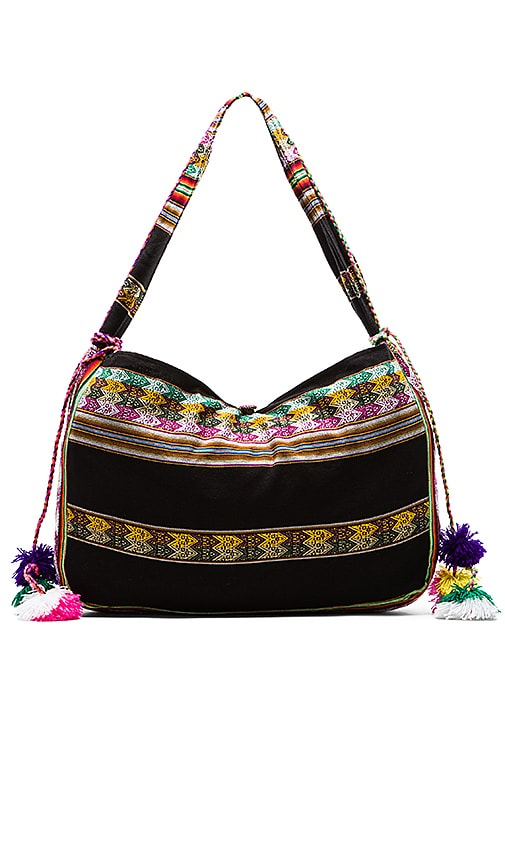 Pitusa Inca Beach Bag in Black | REVOLVE