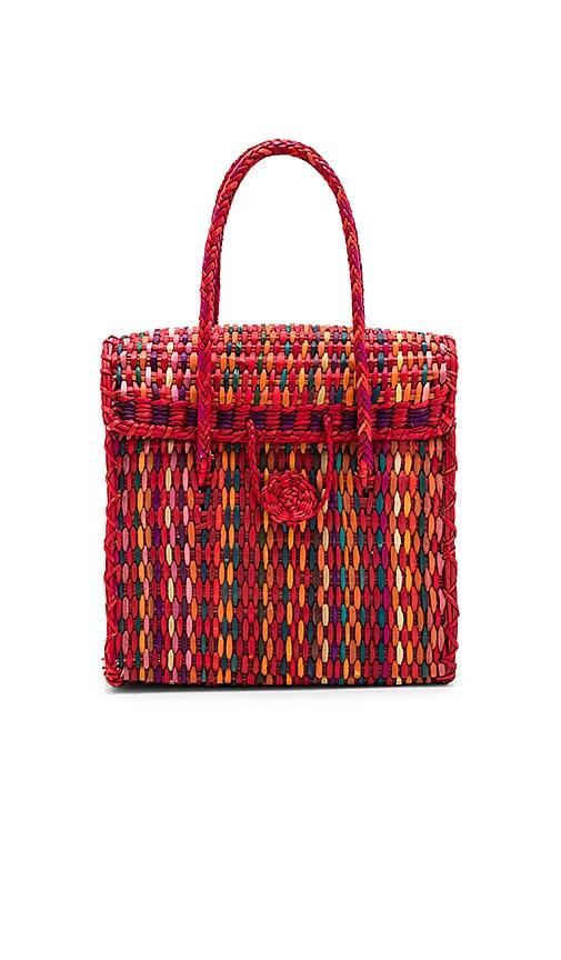 Pitusa Straw Handbag in Red