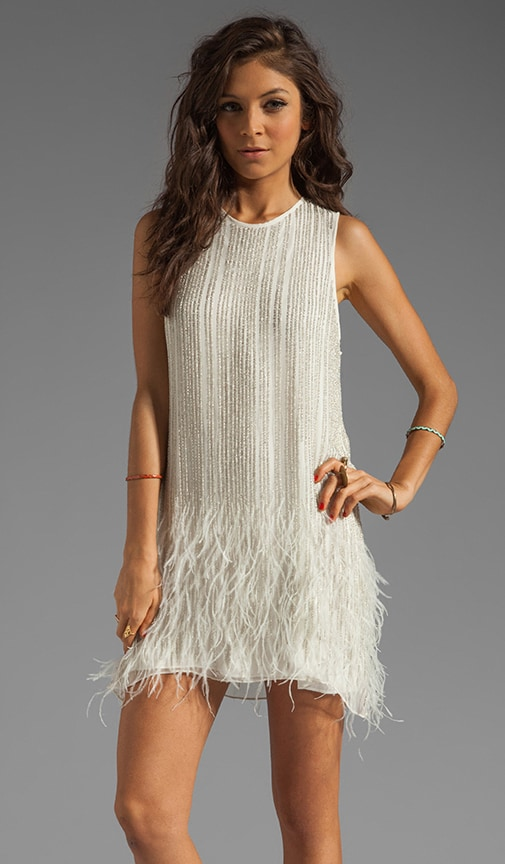 Allegra Feather Beaded Dress