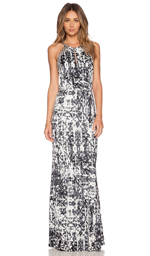 Parker Lita Embellished Maxi Dress in Gazette