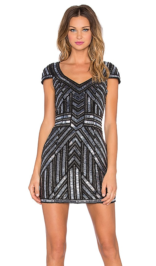Parker Elijah Sequin Dress in Black