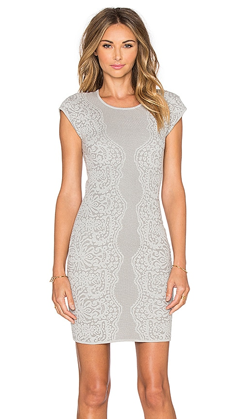 Parker Heartland Knit Dress in Gray