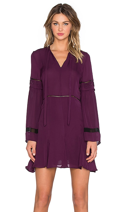 Parker Milly Combo Dress in Purple