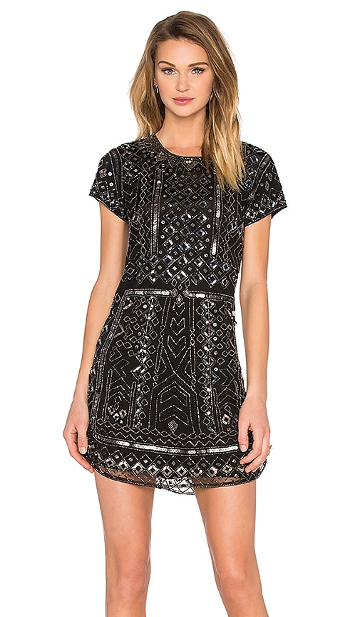 Parker Topaz Sequin Dress in Black