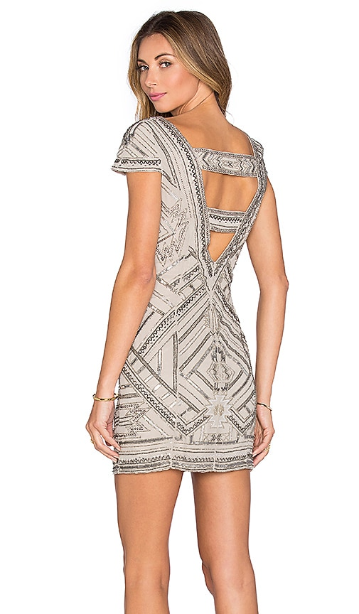 Parker Elijah Embellished Dress in Gray