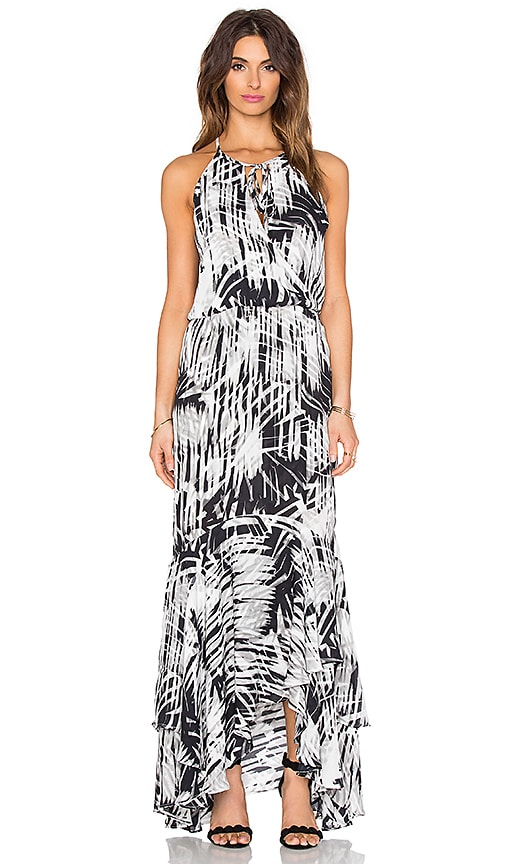 Parker Francesca Maxi Dress in Black & White
