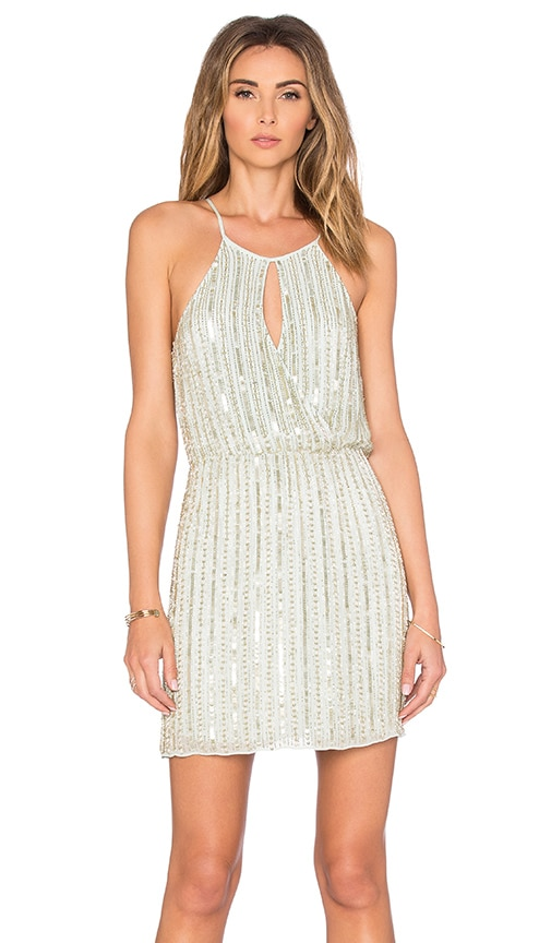 Parker Norden Embellished Dress in Green